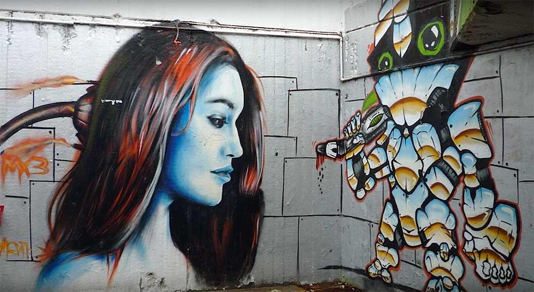 Belgrad Yaratıcı Sokak Sanatı